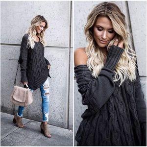 🆕PREORDER Dark Olive Knit Sweater