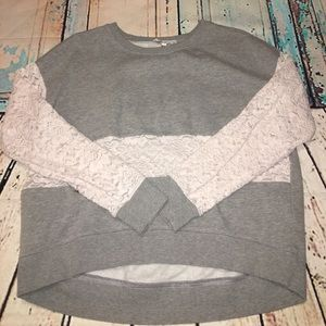 Gray and Lace sweater