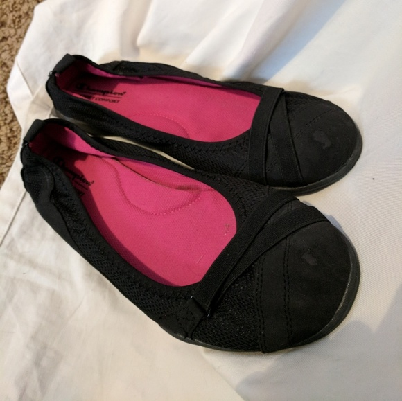 1fac4176789ee Champion Shoes - Black Ballet Flats