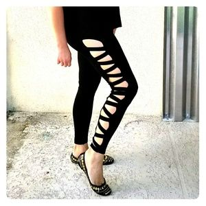 New Express Black leggings Stretchy S - M sexy cut