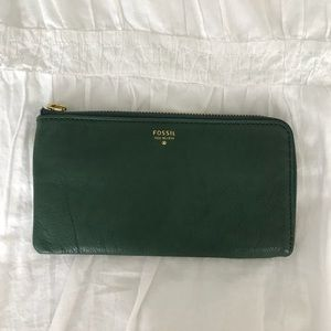 Fossil Leather Green Wallet