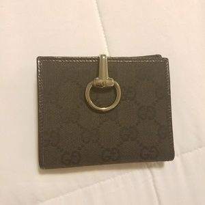 Gucci Monogram Glam French Flap Wallet