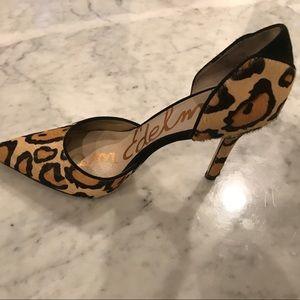 Sam Edelman leopard size 6 D'Orsay 4 inch heel