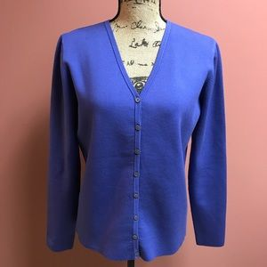 Lilly Pulitzer Blue Cardigan with 23% Spandex!