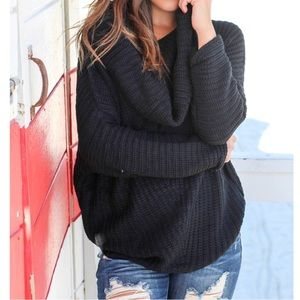 Sweaters - ✨LAST ONE ✨Paris cowl shoulder loose fit sweater