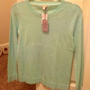 J.Crew turquoise sweater