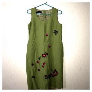 Donna Morgan floral green dress lining