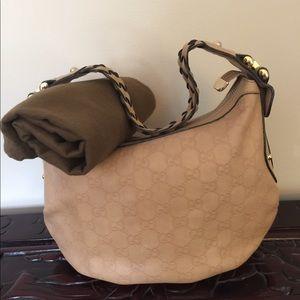 Gucci Pelham Monogram Leather Handbag