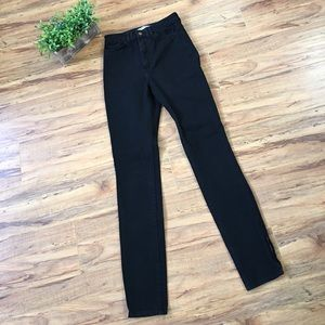 American Apparel High Waisted Ankle Zip Jeans