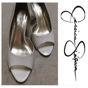 Jessica Simpson MILANA White Patent Leather 7