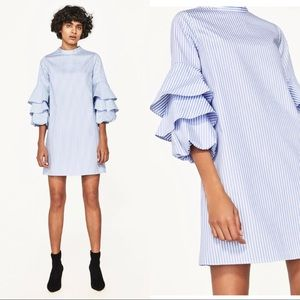 ZARA frilled sleeve dress