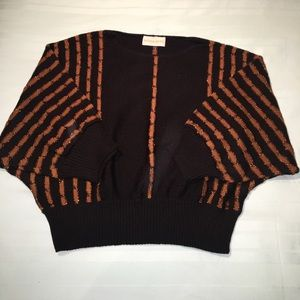 ✨Vintage black cropped sweater size small✨