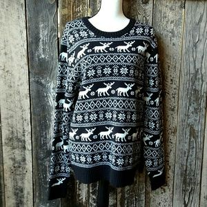 Forever 21 Nordic Crew Neck Wool Blend Sweater XL