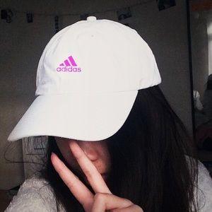 👄 Adidas White & Pink Superstar Baseball Hat