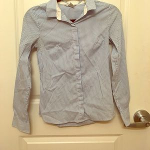 Professional Blue Striped Shirt