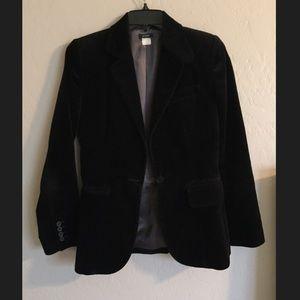 J. Crew velvet blazer size 0