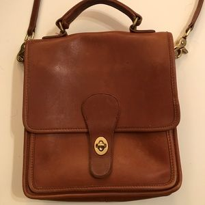 Vintage Coach brown leather Willis bag, $100
