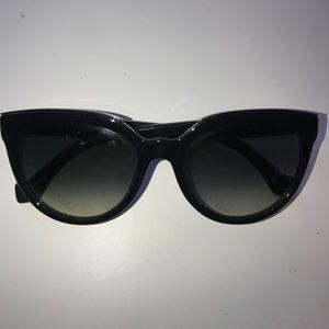 Balenciaga Black Classic Cat Eye  Sunglasses