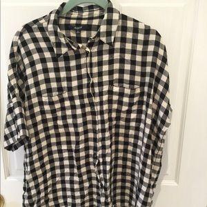 Madewell Checker Shirt Sleeve Size M