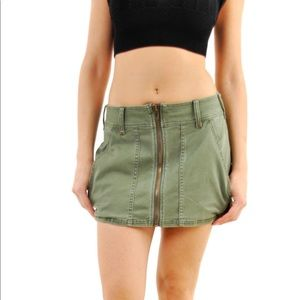 Free People women's cool military mini skirt