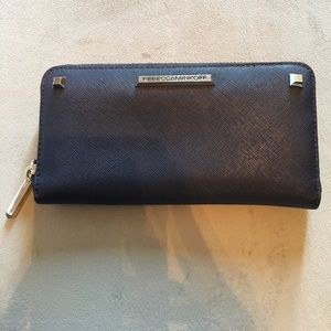 Rebecca Minkoff navy blue leather wallet