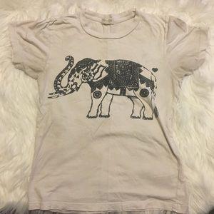 Brandy Melville baby pink elephant tee