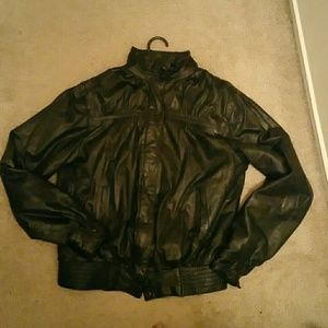 Jackets & Blazers - Vintage Black Leather Jacket