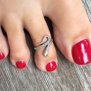 🐍 Sterling Silver Toe Ring - Snake