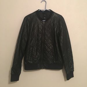 Forever 21 Quilted Leather Jacket