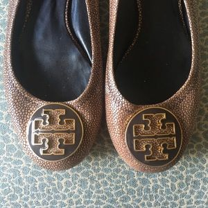 Tory Burch Shoes - Rare Tory Burch Stingray Leather Reva Flats
