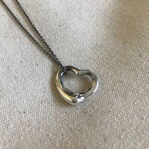 Elsa Perreti Open Heart Pendant, silver