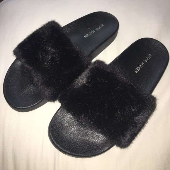 cute really cheap big sale Steve Madden Shoes | Softey Furry Slides | Poshmark