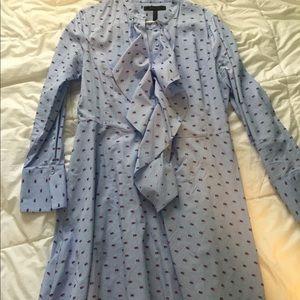BCBG shirt dress with ruffle