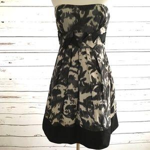 BCBG Strapless Silk Blend Mini Dress