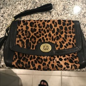 Coach Cheetah Wristlet in great condition