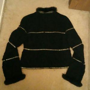 Dino Gaspari Jackets & Coats - Black Lamb and Fox Trim Coat with