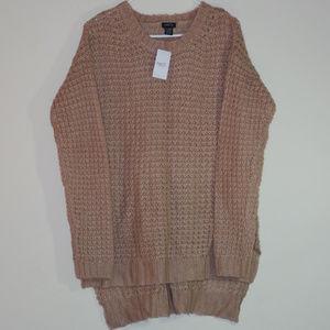 NWT RUE 21 Tan X Long Sweater for Leggings XL