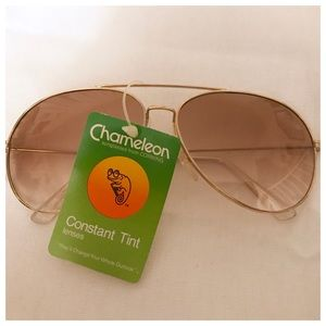 Deadstock Gold Aviator Sunglasses, NWT, Vintage