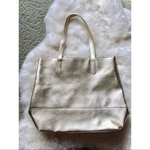 Bloomingdale's Pale Gold Tote NEW!