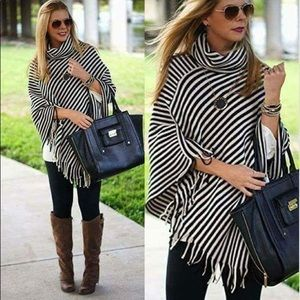 Just in!!!! Black and white Poncho