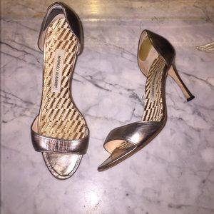 MANOLO BLAHNIK Metallic Heels