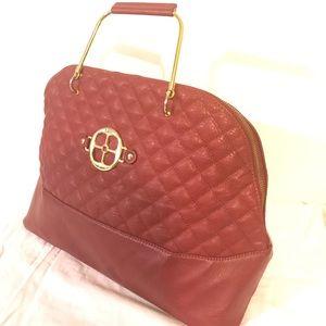 Beautiful red wine handbag