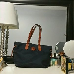 Dooney and Burke canvas tote bag