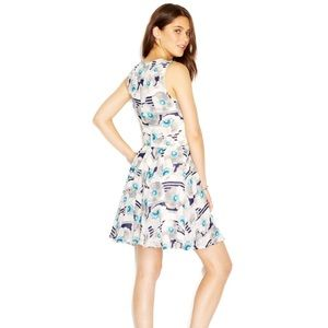 •Madison Jules• Floral Striped Flare Dress
