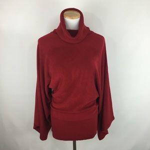 BCBGMAXAZRIA turtleneck wide sleeve sweater sz M