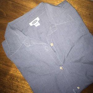 Grey button down shirt