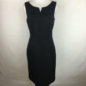 Talbots black sheath dress sz 8
