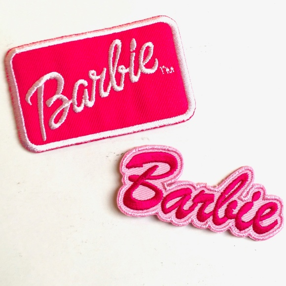 Brand New Pink Barbie Logo Iron On patch Sew On transfer logo Badge