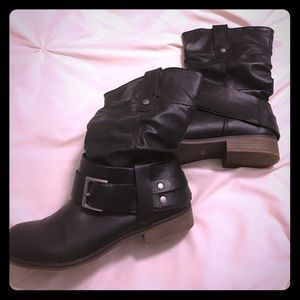 Black Moto boots. Never worn