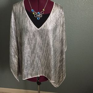 Blouse, wing style  sleeves.  Used. S/M